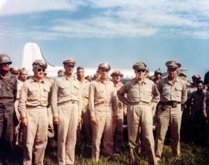 Douglas MacArthur at Atsugi Airfield [World War II Database, Peter Chen](http://ww2db.com)