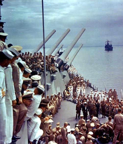 aboard the USS Missouri