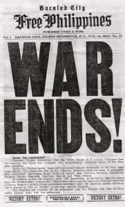 is among the first to announce the war's end in this 'Victory Extra' edition. The paper made a premature announcement five days earlier. [Herbert Friedman](http://www.psywarrior.com/)