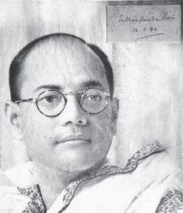 Subhas Chandra Bose, signed portrait from 1940