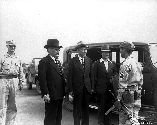 and taken into custody at Osaka Airport [US National Archives]( http://www.archives.gov/research/military/ww2/photos/)