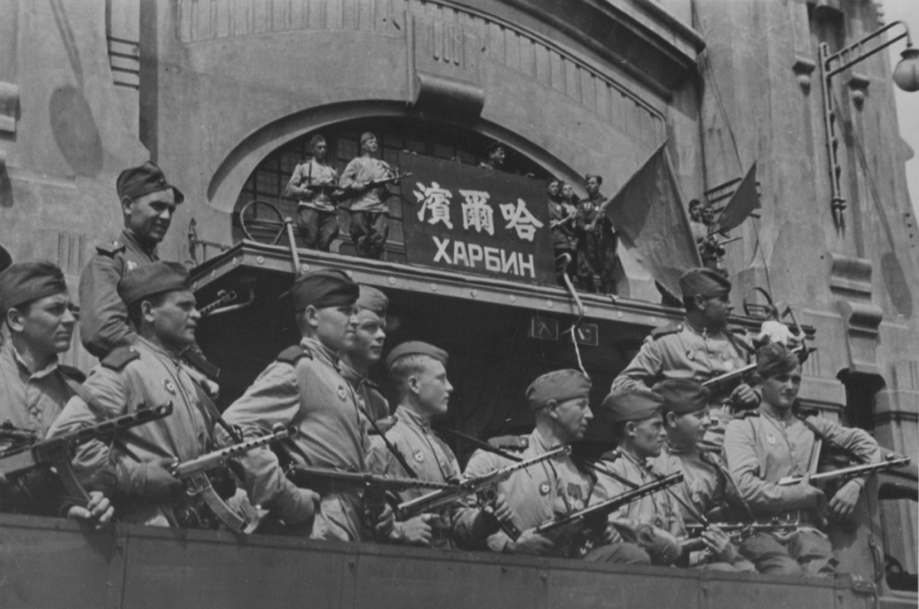 were surely sufficient to lead Japan to surrender, were they necessary? The Soviet Union rolled across Manchuria in a matter of days, plundering much of Japan's armament-producing infrastructure along the way. Here we see Soviet soldiers at the railway station in Harbin, China [Stanislav Zharkov collection](http://Waralbum.ru)