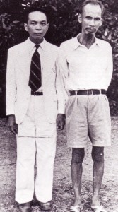 Vo Nguyen Giap (left) with Ho Chi Minh in 1945