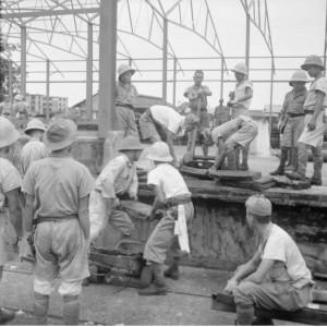 Japanese prisoners of war in Singapore, 1945