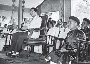 Though installed as Vietnamese head of state by the French in 1949, Bao Dai played little part in later events