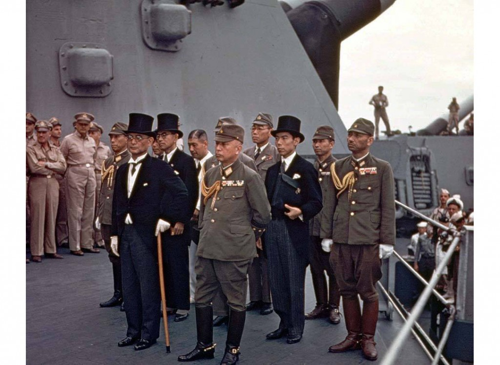 boards the USS Missouri. [World War II Database, Peter Chen](http://ww2db.com)