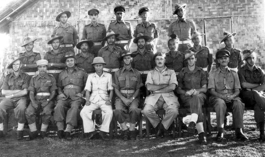 with British army officers