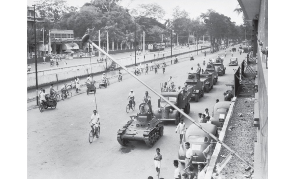 the streets of Jakarta days before the British arrival. Continued Japanese involvement in maintaining law and order throughout the region proved necessary long after their surrender (Australian War Memorial, 118804)