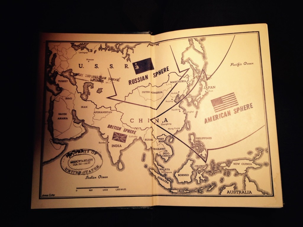 Map inside the cover of Harold Isaacs, No Peace for Asia